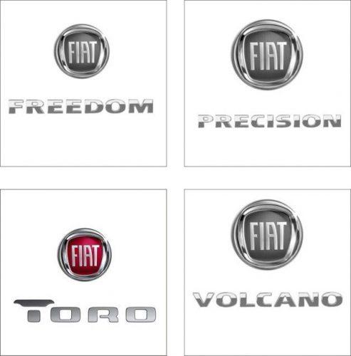 Os logos estudados pela Fiat para a picape