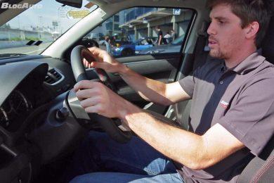 O piloto Luiz Razia mostra como encontrar a melhor posição de dirigir