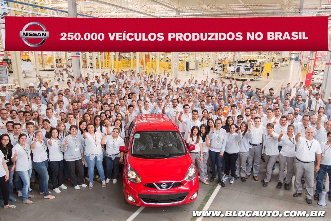 Nissan chega a 250 mil carros produzidos no Brasil