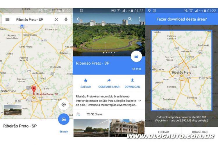 Google Maps: Três primeiros passos para fazer download de mapas