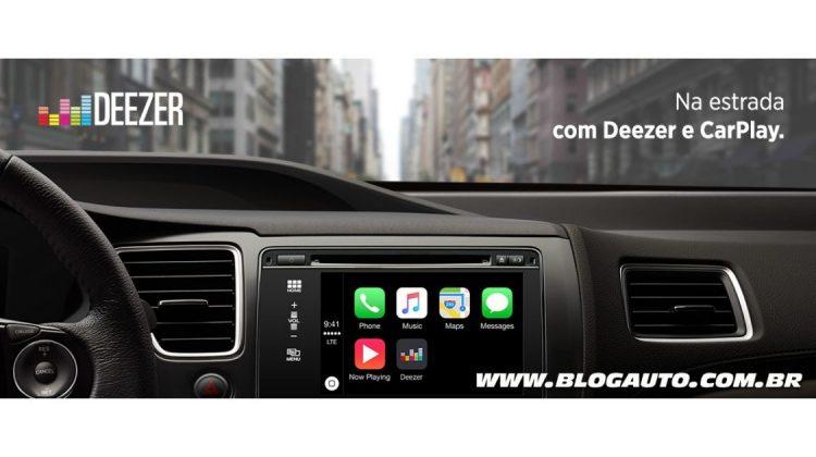 Deezer no Apple CarPlay