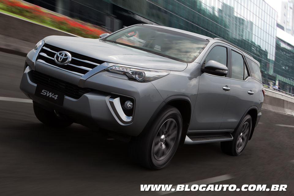 Toyota SW4 é um exemplo de SUV vendido no Brasil