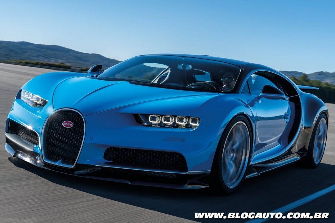 Bugatti Chiron é lançado com motor de 1.500 cv