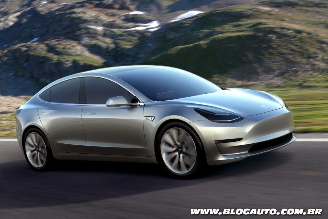 Tesla Model 3 é lançado e pode chegar ao Brasil