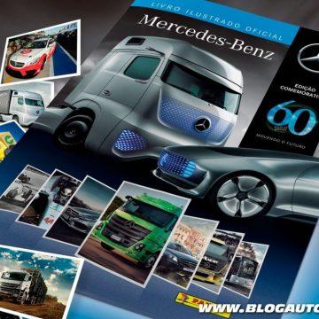 Álbum de figurinha dos 60 anos da Mercedes-Benz