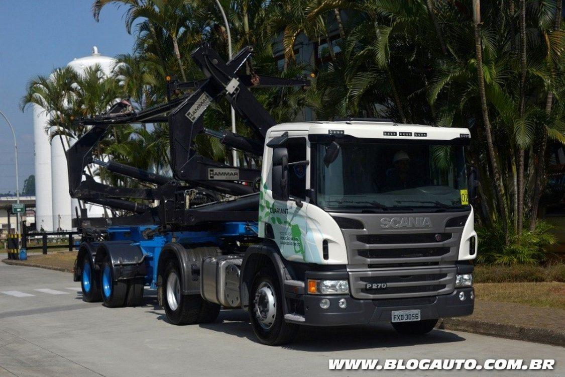 Caminhões Scania passam a usar etanol de segunda geração