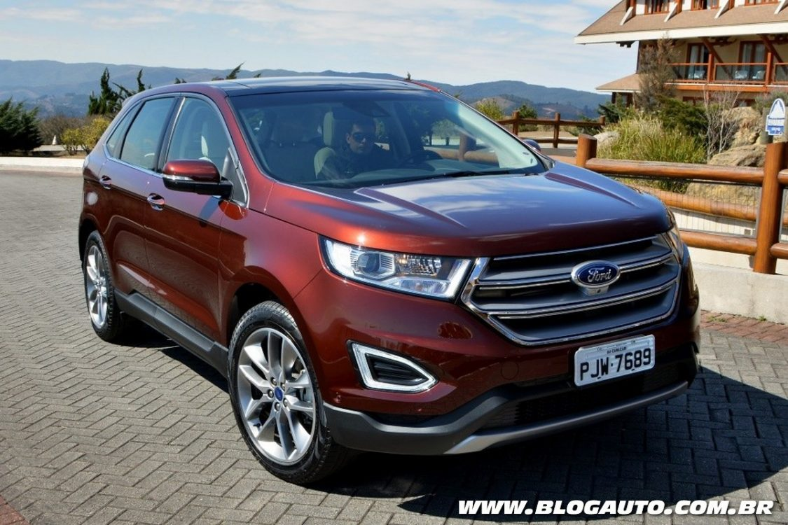 novo ford edge 2017 chega com motor v6 por r 229 9 mil blogauto. Black Bedroom Furniture Sets. Home Design Ideas