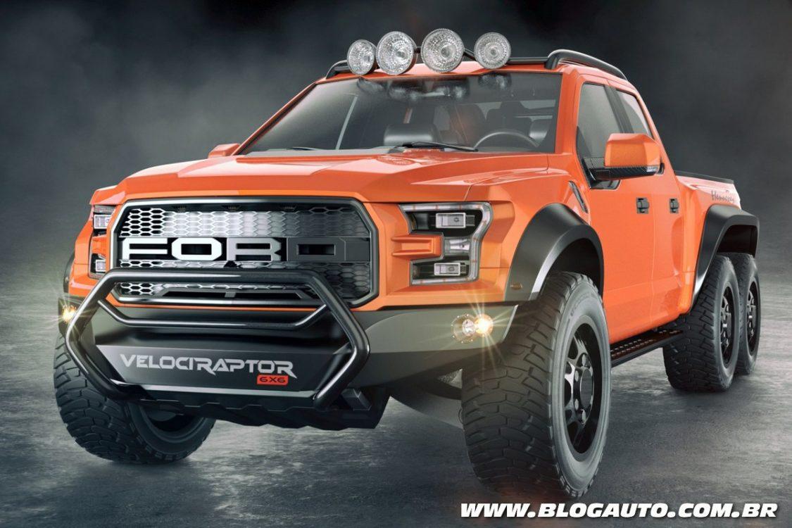 Ford F-150 Raptor ganha versão com seis rodas!!!