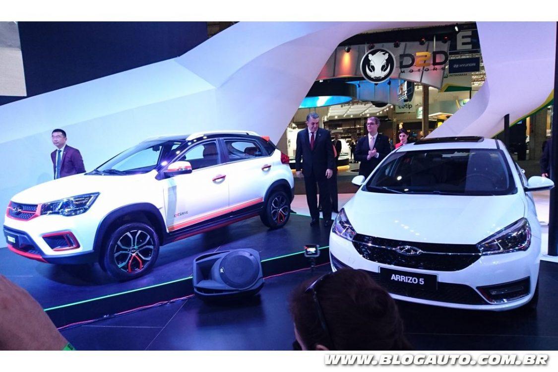 Chery mostra SUV e sedãs no Salão do Automóvel