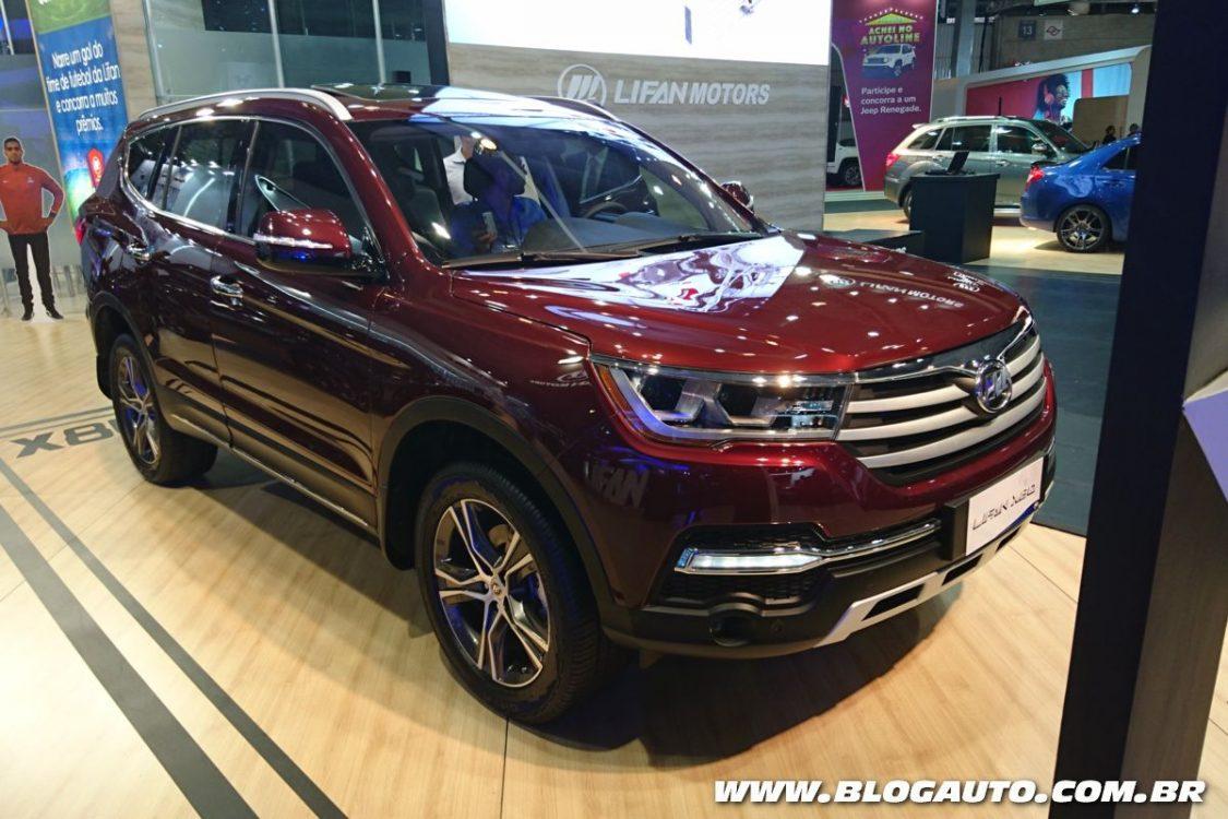 Lifan mostra SUV de sete lugares X80 no Salão do Automóvel