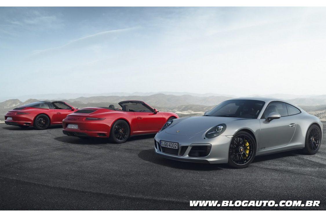 Porsche 911 GTS 2018 passa a usar motor biturbo de 450 cv