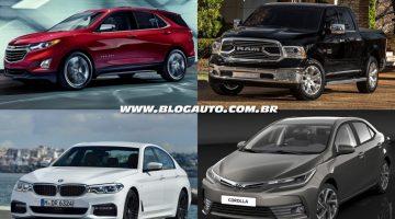 Equinox, 1500, Série 5 e Corolla estão entre os principais lançamentos para o Brasil em 2017
