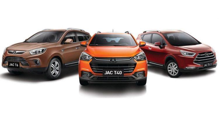 Crossovers da linha da JAC Motors no Brasil