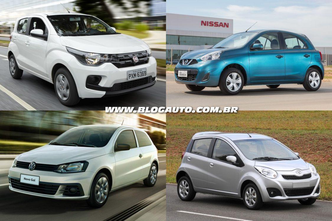Os 10 carros mais baratos à venda no Brasil