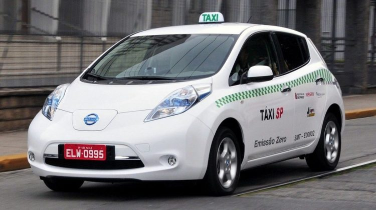 Nissan Leaf como táxi em São Paulo