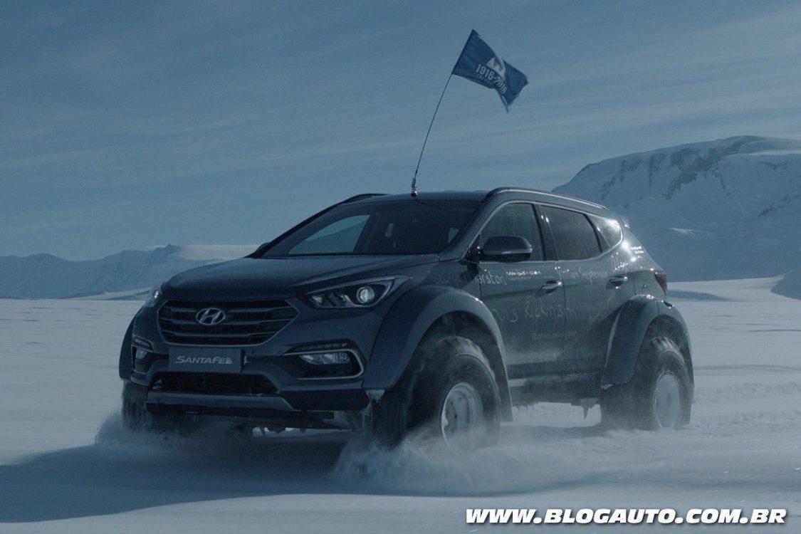 Hyundai usa SUV para cruzar a Antártida pela primeira vez