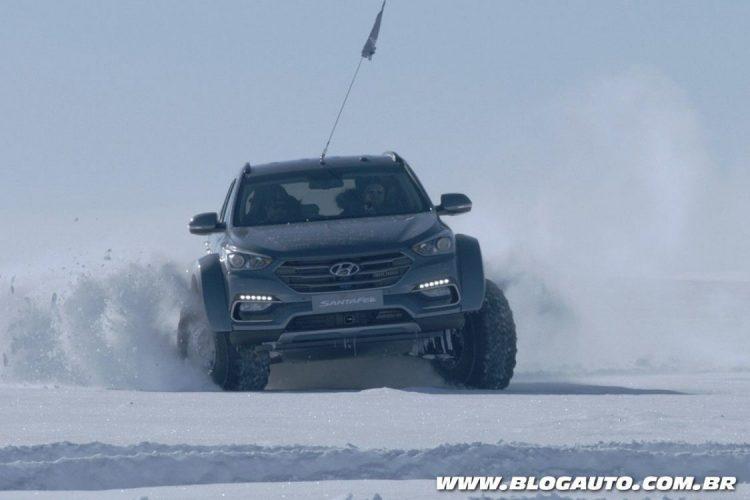 SUV da Hyundai em jornada na Antártida