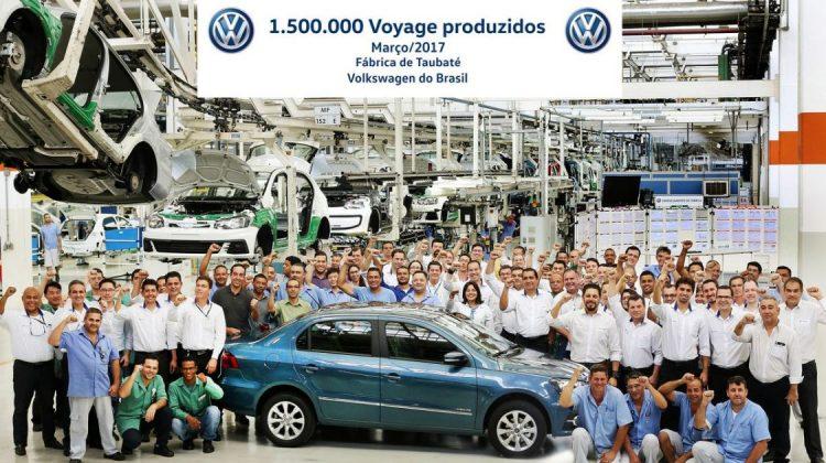 Comemoração dos 1,5 milhão de Volkswagen Voyage produzidos