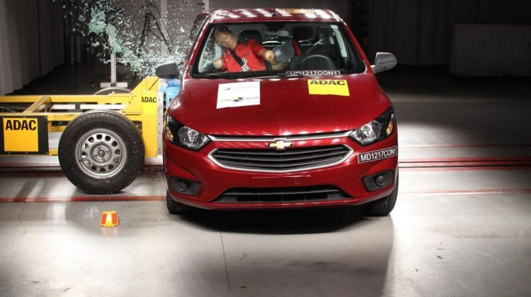 Chevrolet Onix 2017 no Latin NCAP