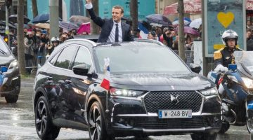 DS 7 Crossback como carro do presidente da França