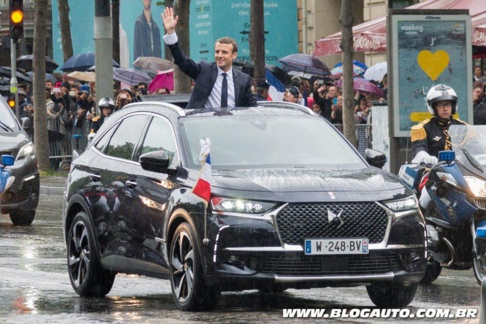 DS 7 Crossback como carro do presidente da França