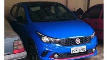 Flagra do Fiat Argo 2018 na versão HGT e cor azul