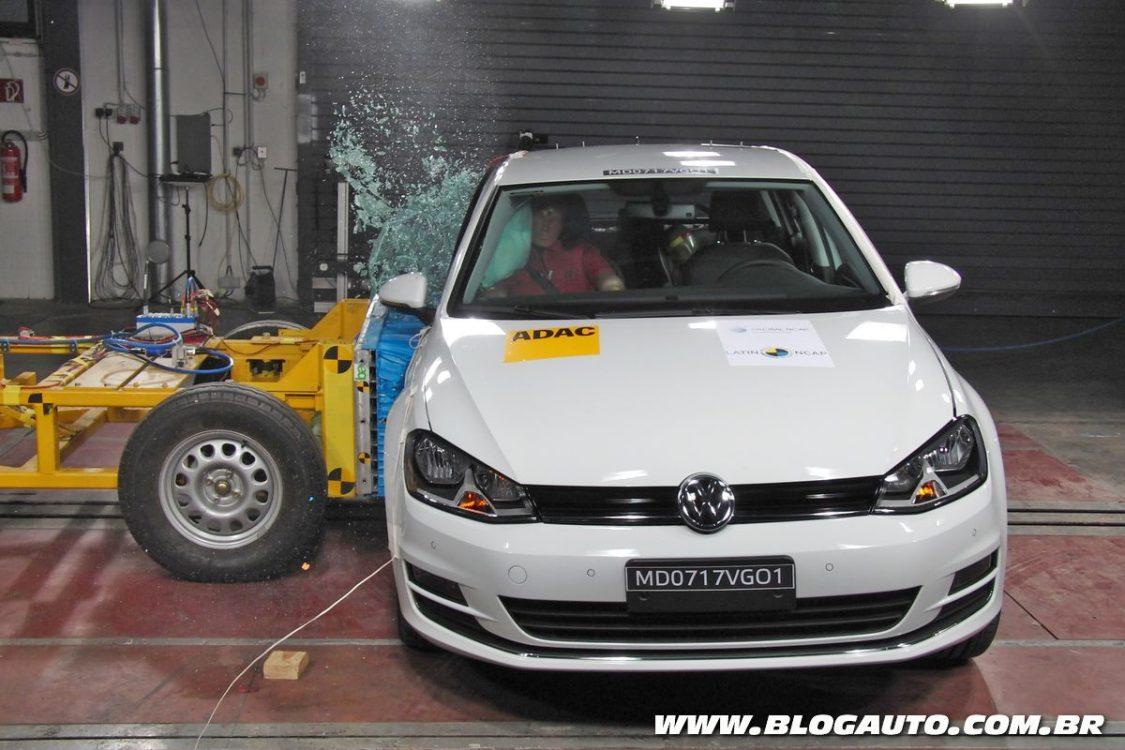 Volkswagen Golf nacional recebe cinco estrelas no Latin NCAP