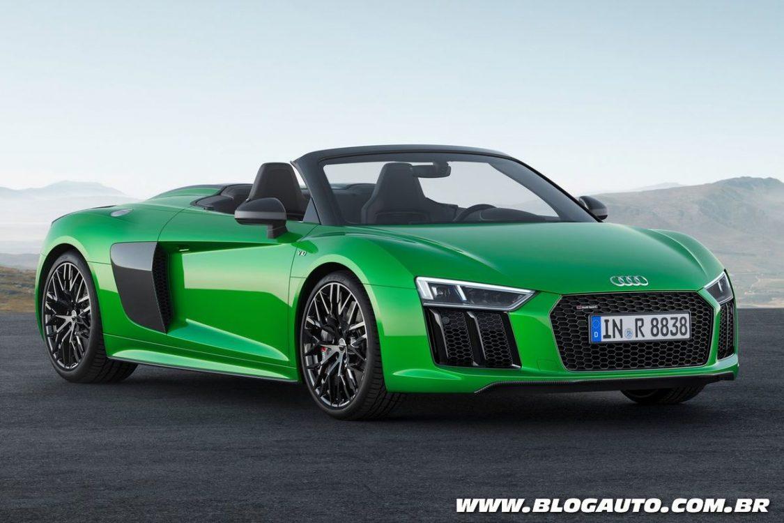 Audi R8 Spyder V10 plus vai de 0 a 100 km/h em 3,3 s