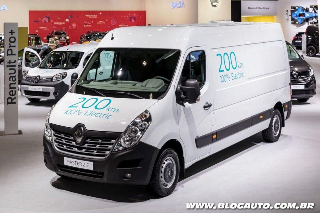 Utilitários Renault Kangoo e Master ganham versão elétrica