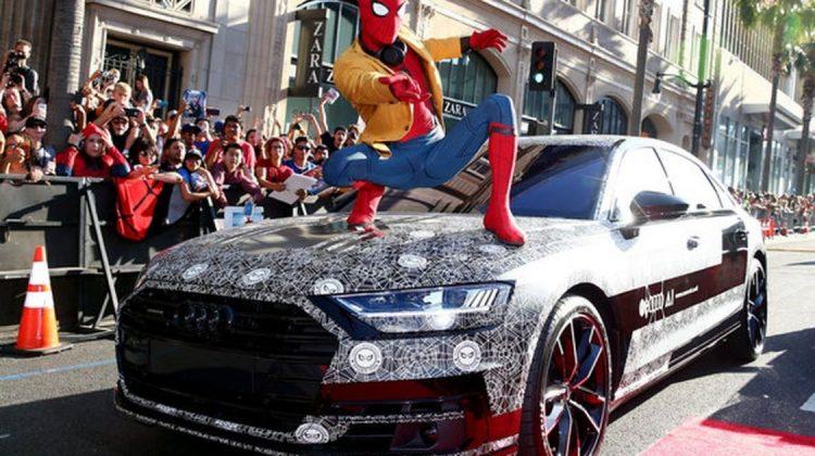 Audi A8 2018 com o Homem Aranha
