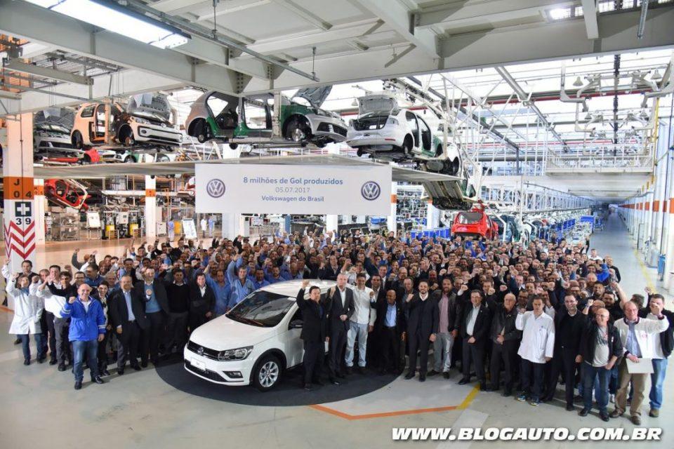 Volkswagen Gol número 8 milhão na fábrica