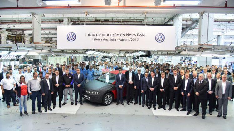 Produção do novo Volkswagen Polo 2018 em Anchieta