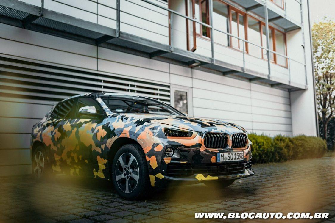 BMW X2 deixa parte do visual à mostra em novas imagens