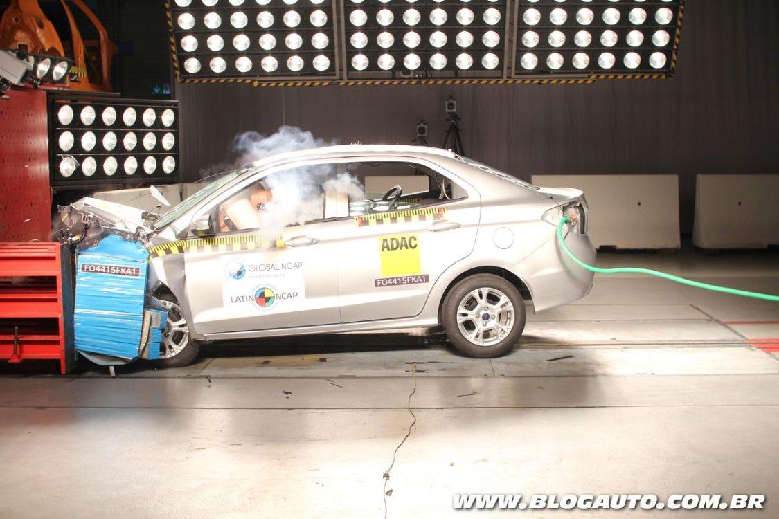 Ford Ka recebe zero estrela no Latin NCAP