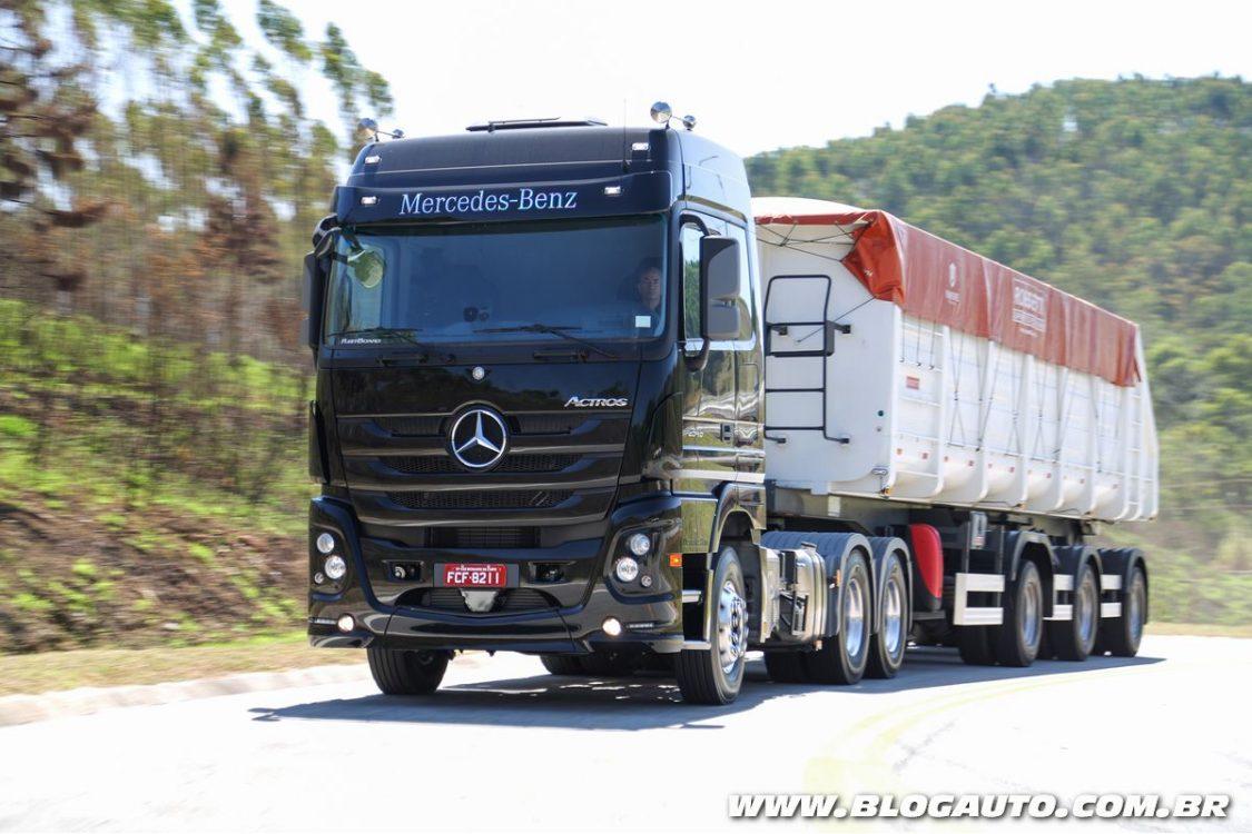 Mercedes-Benz Actros ganha novos recursos na Fenatran