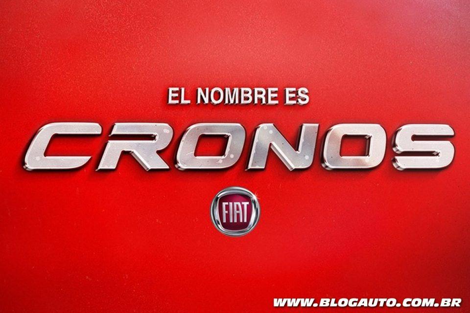 Nome oficial Fiat Cronos do sedã do Argo