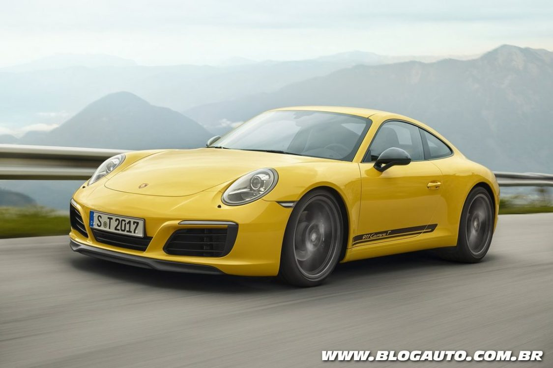 Porsche 911 Carrera T tem menos itens e maior desempenho