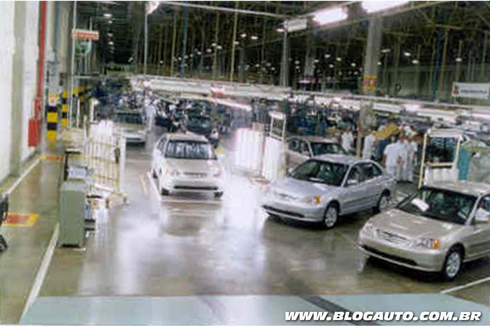Produção nacional do Civic em 1997