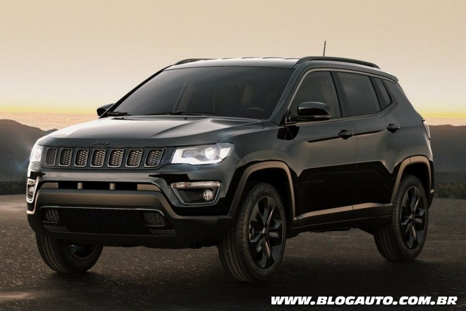 jeep compass 2018 ganha s rie especial night eagle blogauto. Black Bedroom Furniture Sets. Home Design Ideas
