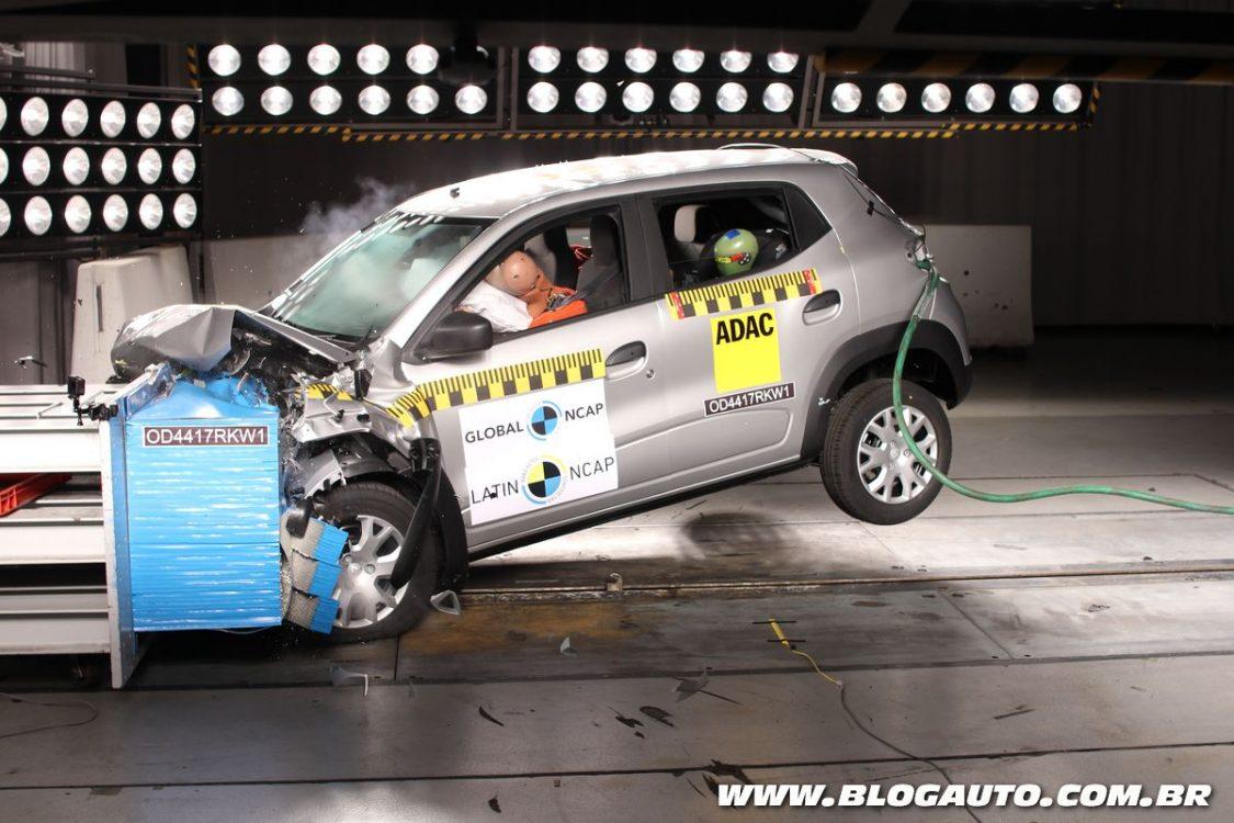 Renault Kwid ganha três estrelas em teste de segurança