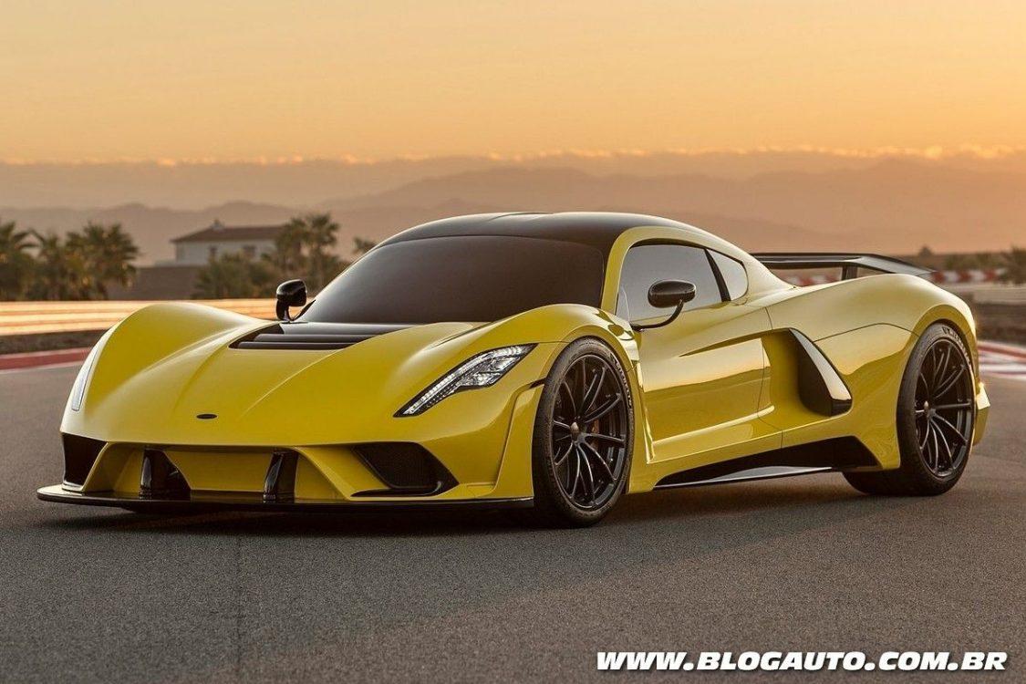 Hennessey Venom F5 tem 1.622 cv e alcança 484 km/h