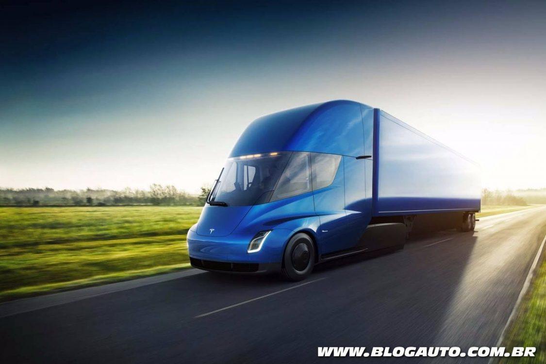 Caminhão Tesla Semi vai de 0 a 100 km/h em 5 segundos