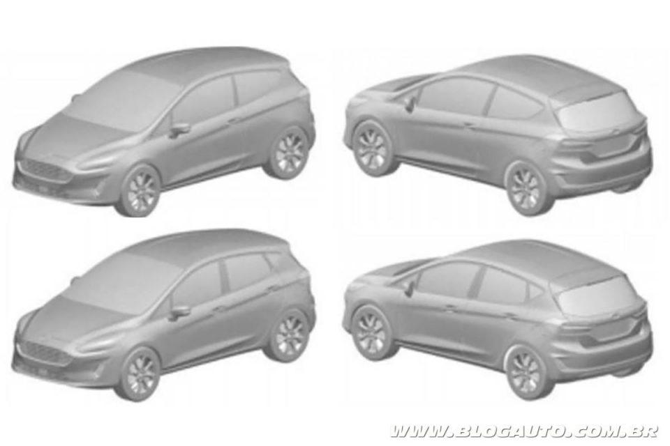 Patente do novo Ford Fiesta 2019