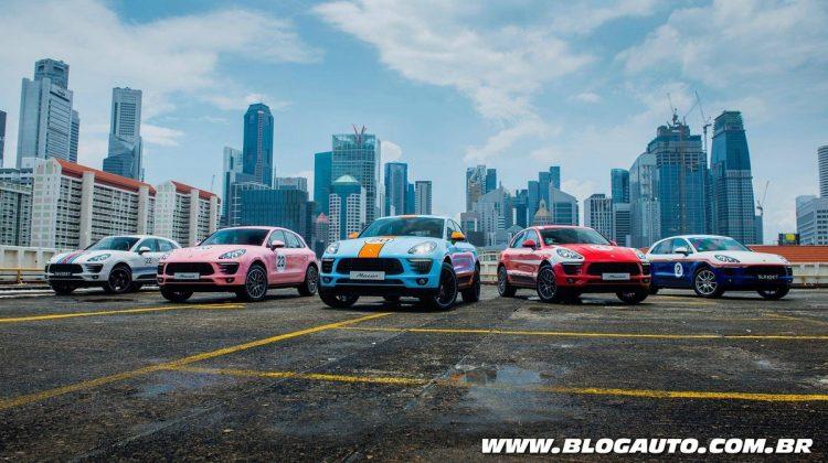 Exemplares do Porsche Macan em alusão à Le Mans