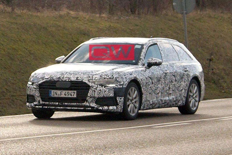 Flagra do novo Audi A6 Avant 2019
