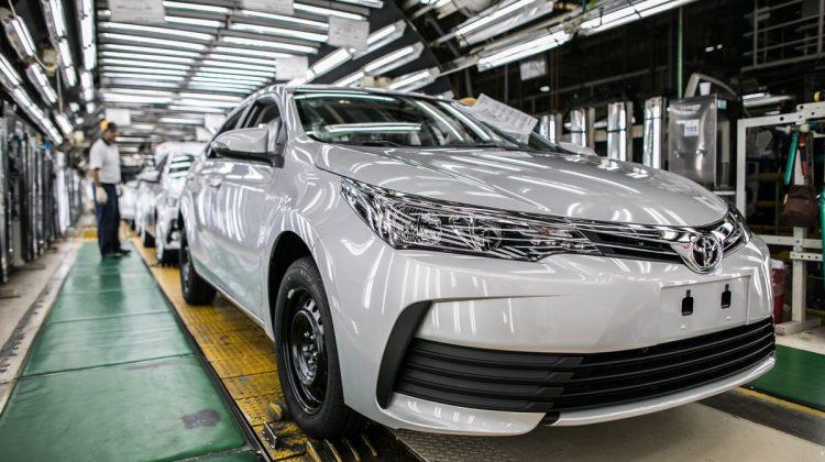 Toyota Corolla na linha de produção em Indaiatuba
