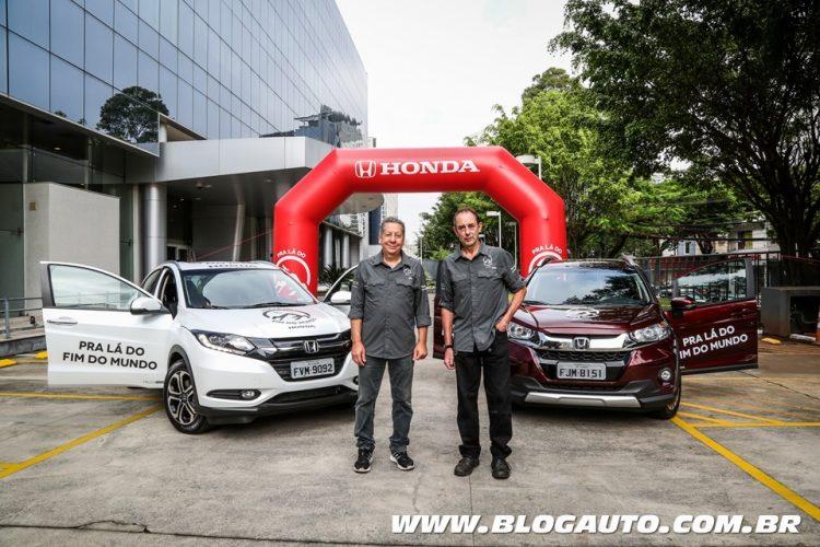 Amyr Klink e Joel Leite iniciam viagem Honda - Pra Lá do Fim do Mundo