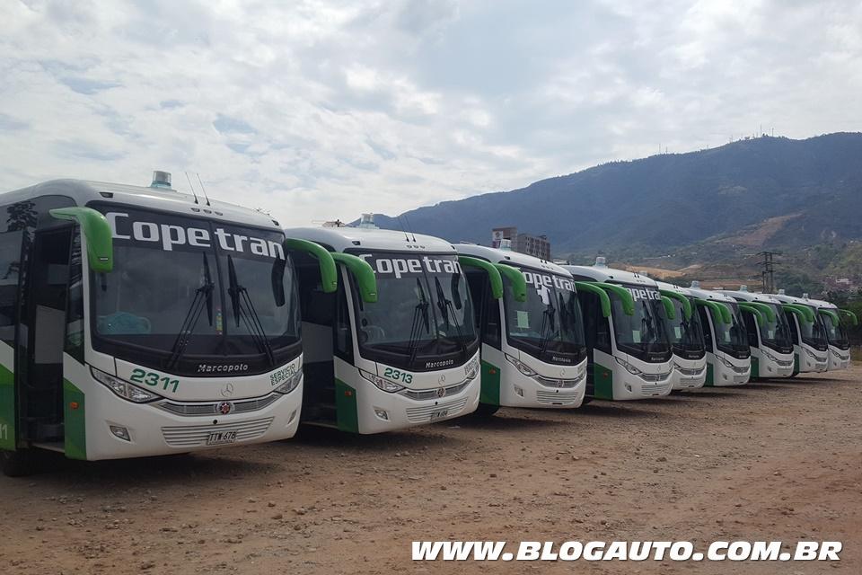 Mercedes-Benz entrega 50 ônibus na Colômbia