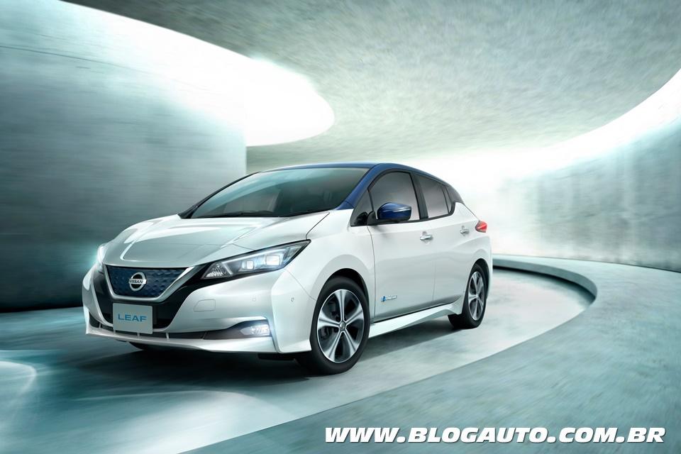O elétrico Nissan Leaf chega ao Brasil no Salão