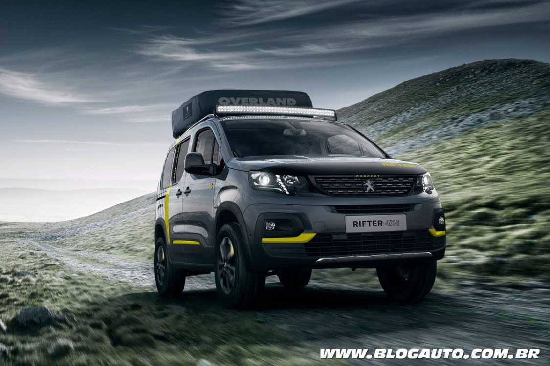 peugeot rifter 4x4 concept traz tenda de camping blogauto. Black Bedroom Furniture Sets. Home Design Ideas